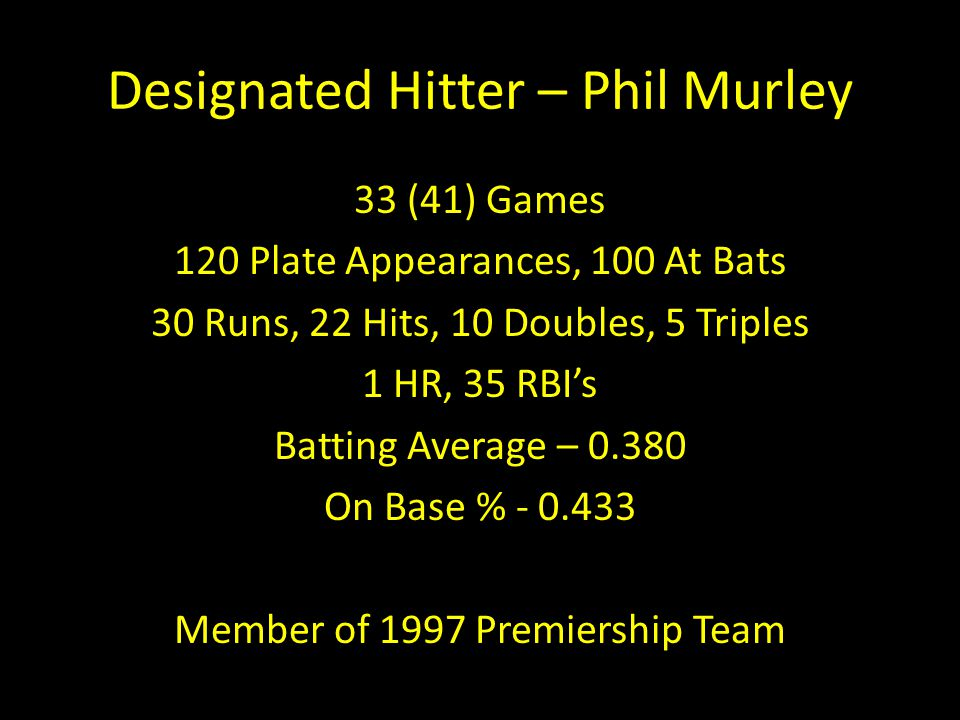 Designated Hitter – Phil Murley