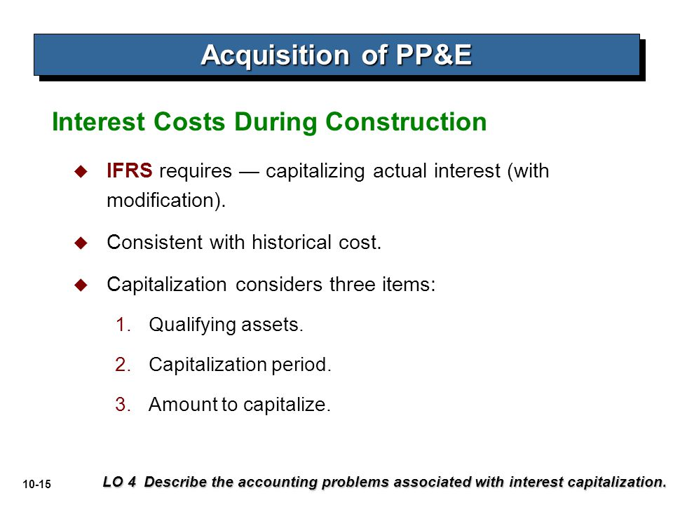 Acquisition of PP&E Interest Costs During Construction