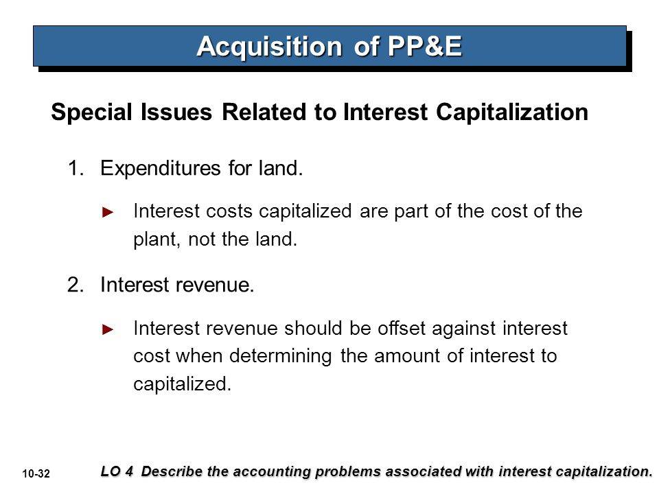 Acquisition of PP&E Special Issues Related to Interest Capitalization