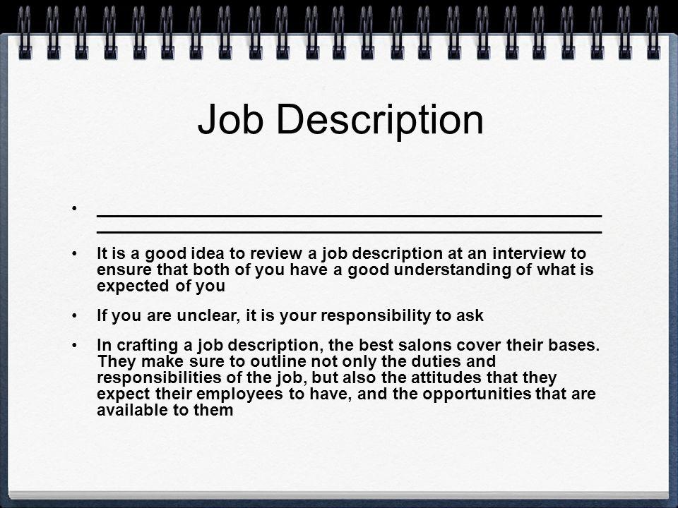 Job Description ______________________________________________________ ______________________________________________________.