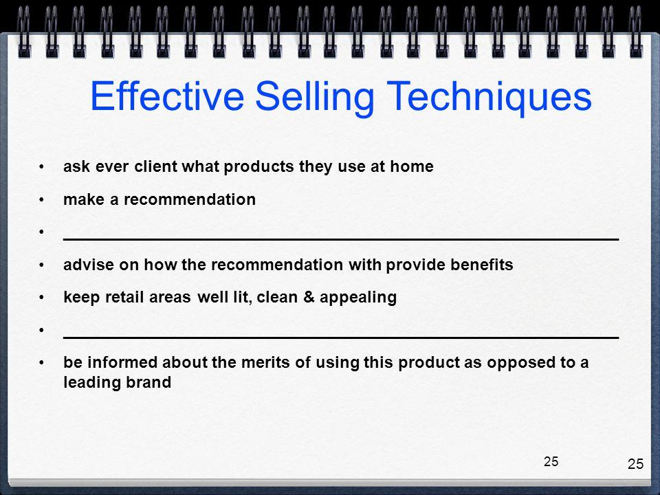Effective Selling Techniques