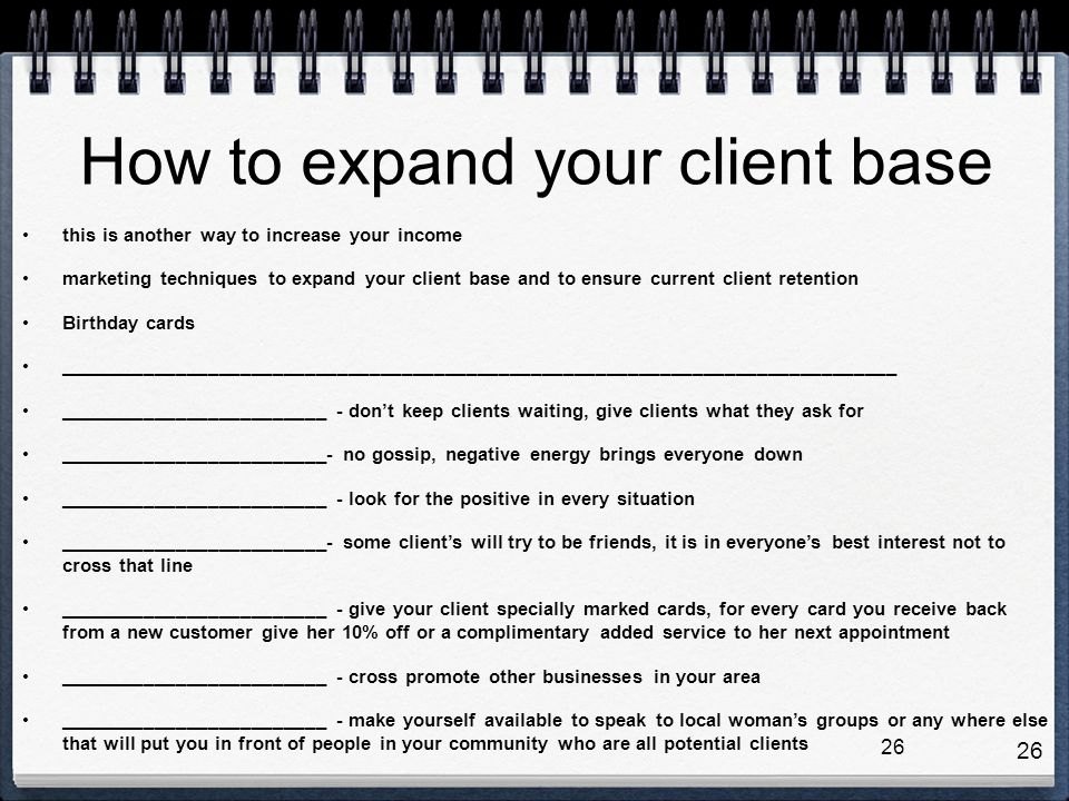 How to expand your client base