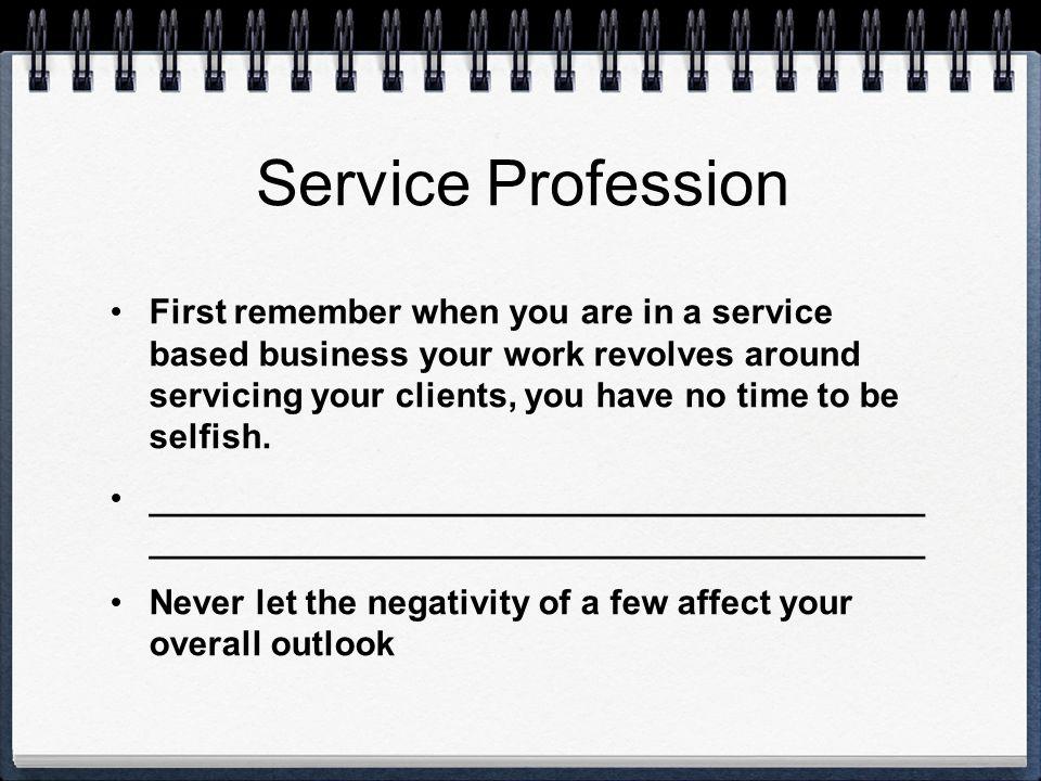 Service Profession