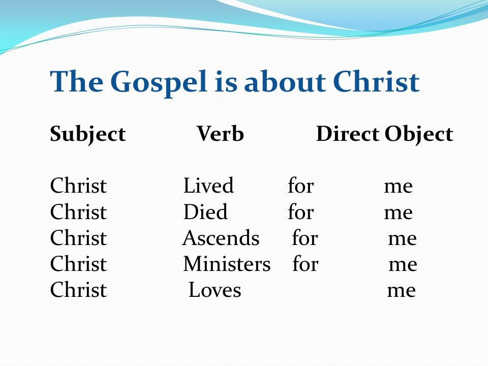 The Gospel is about Christ