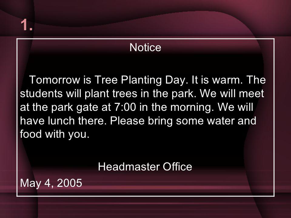 1. Notice.