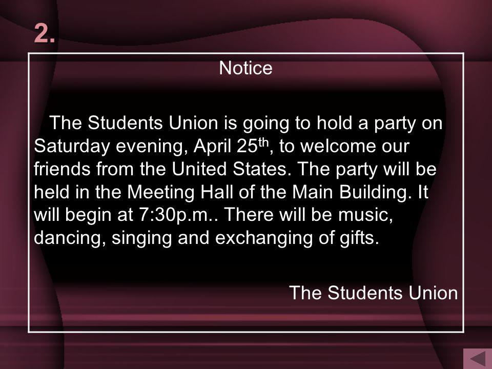 2. Notice.