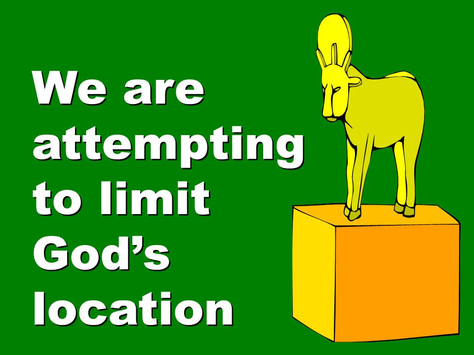 We are attempting to limit God's location