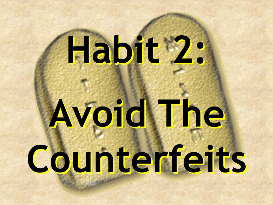 Avoid The Counterfeits