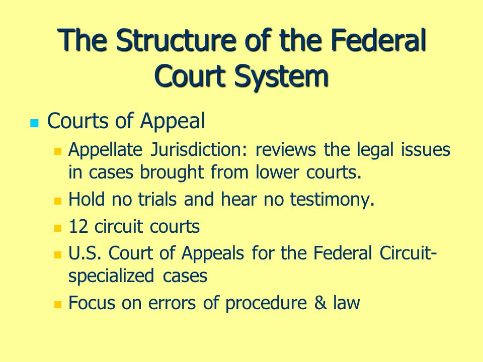 the court system Colorado's state court system appellate courts the colorado supreme court is the court of last resort in colorado's state court system the court generally hears appeals from the court of appeals, although in some instances individuals can petition the supreme court directly regarding a lower court's decision.