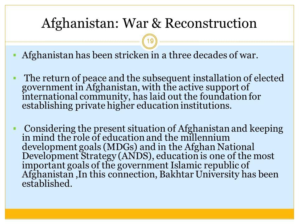 Afghanistan: War & Reconstruction