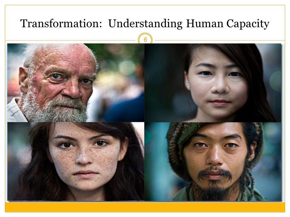 Transformation: Understanding Human Capacity