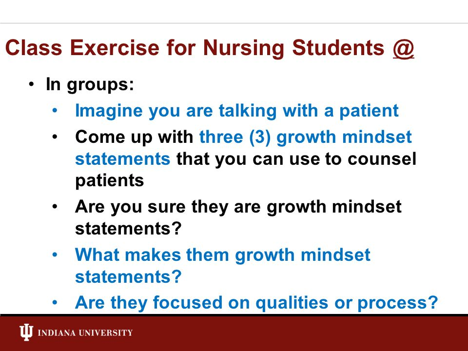 Class Exercise for Nursing Students @