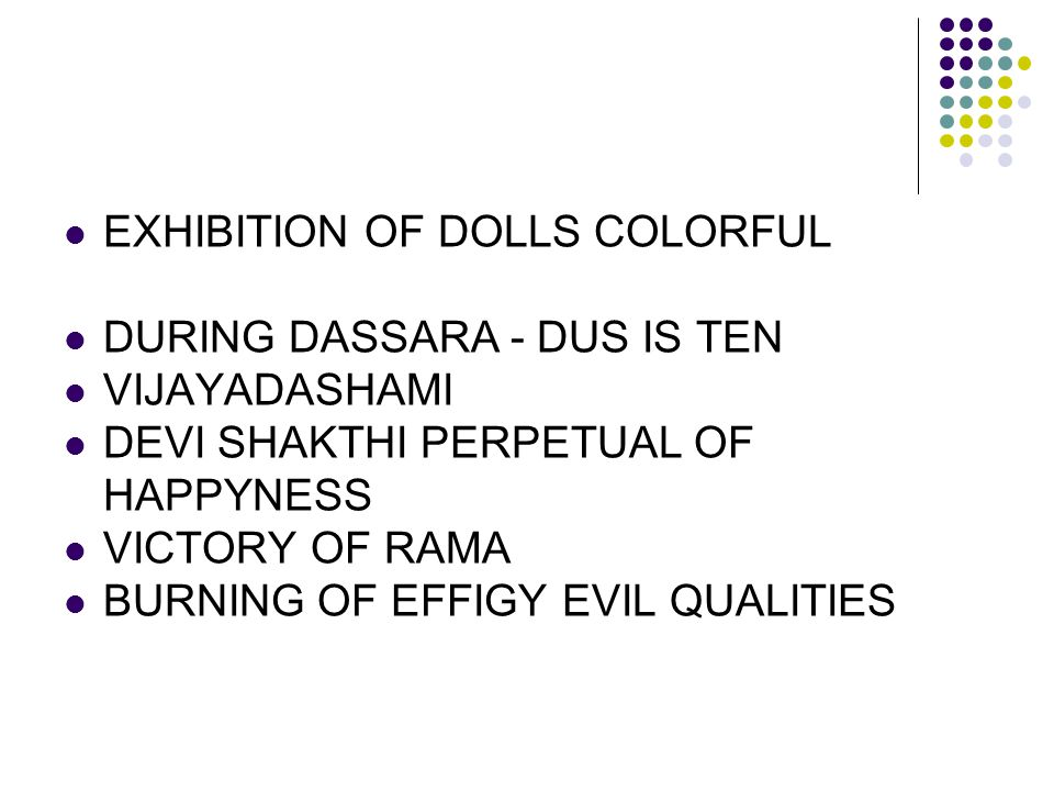 EXHIBITION OF DOLLS COLORFUL