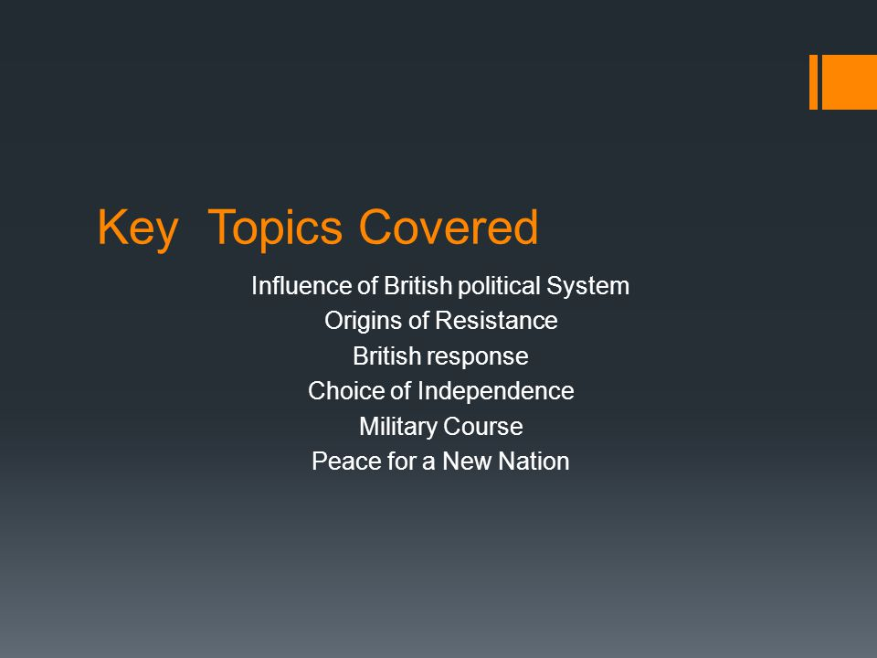 Key Topics Covered