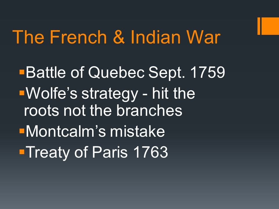 The French & Indian War Battle of Quebec Sept. 1759