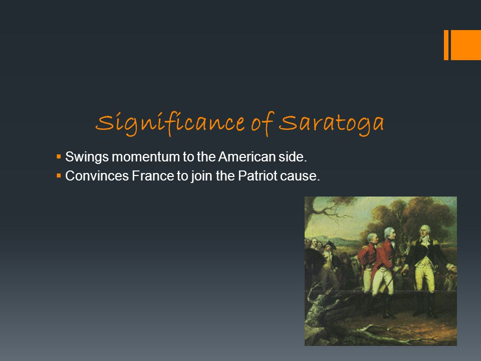 Significance of Saratoga