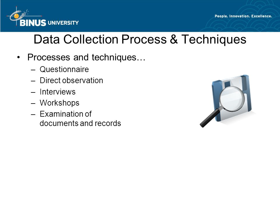 Data Collection Process & Techniques