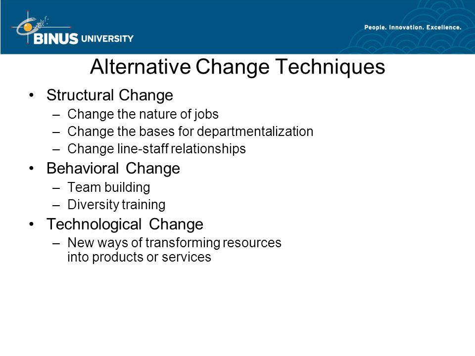 Alternative Change Techniques
