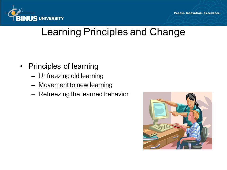 Learning Principles and Change