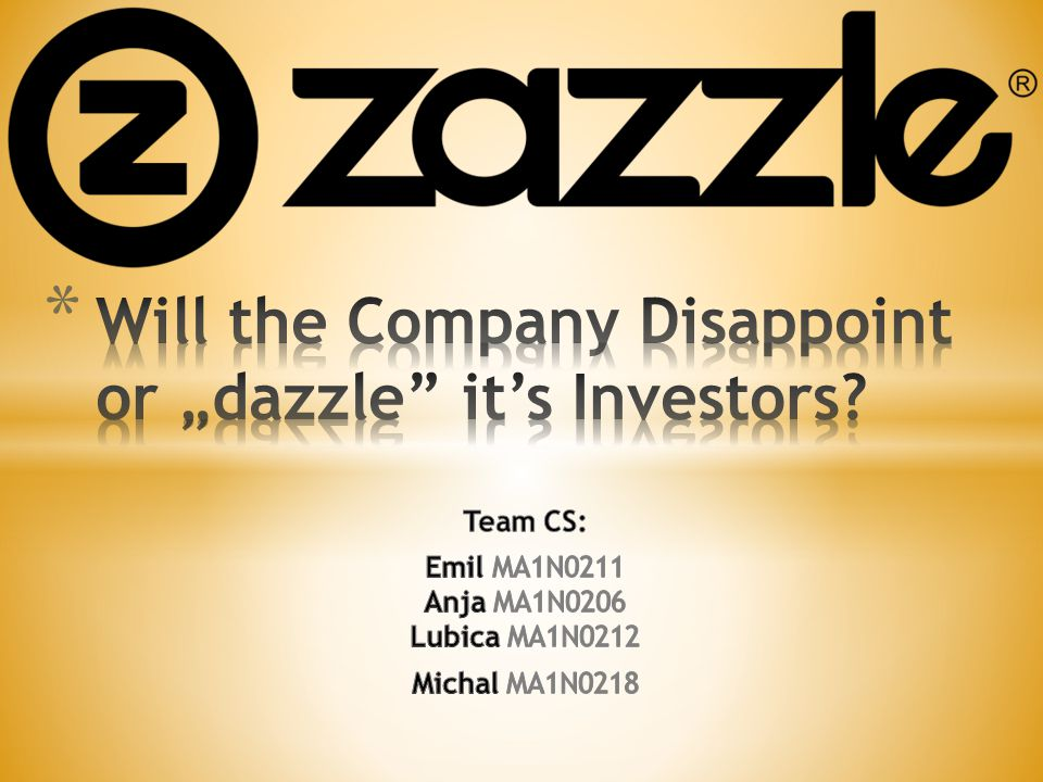 "Will the Company Disappoint or ""dazzle it's Investors"