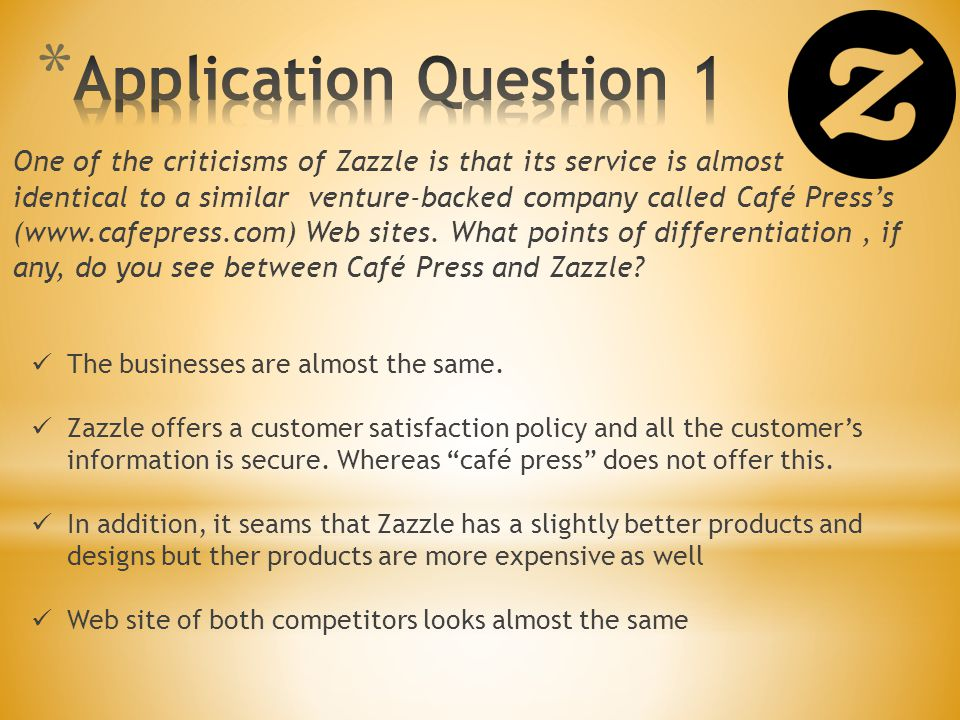 Application Question 1