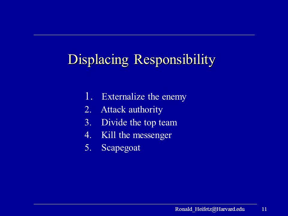 Displacing Responsibility