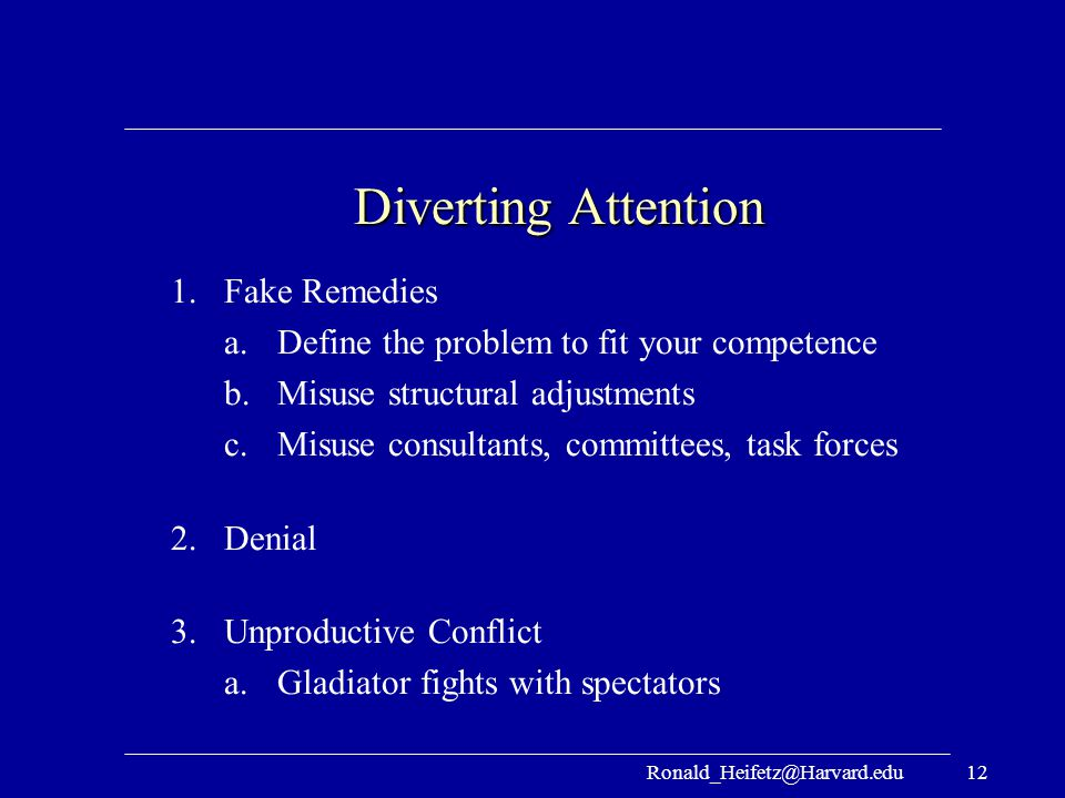 Diverting Attention Fake Remedies