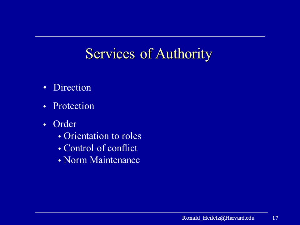 Services of Authority Direction Protection Order Orientation to roles
