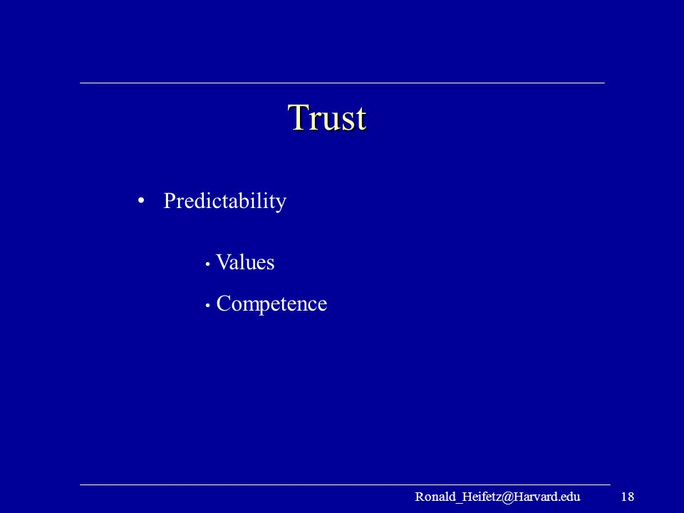Trust Predictability Values Competence