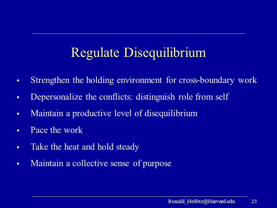 Regulate Disequilibrium