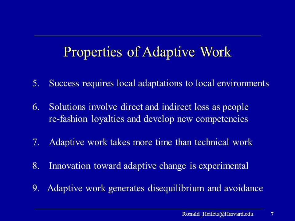 Properties of Adaptive Work