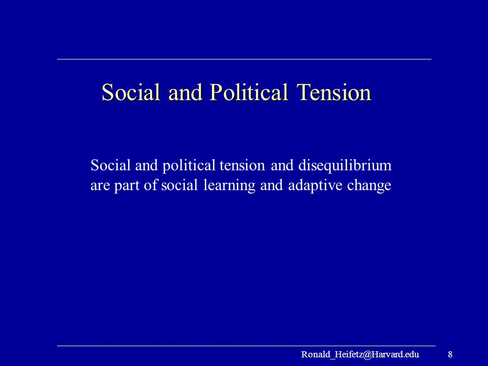 Social and Political Tension