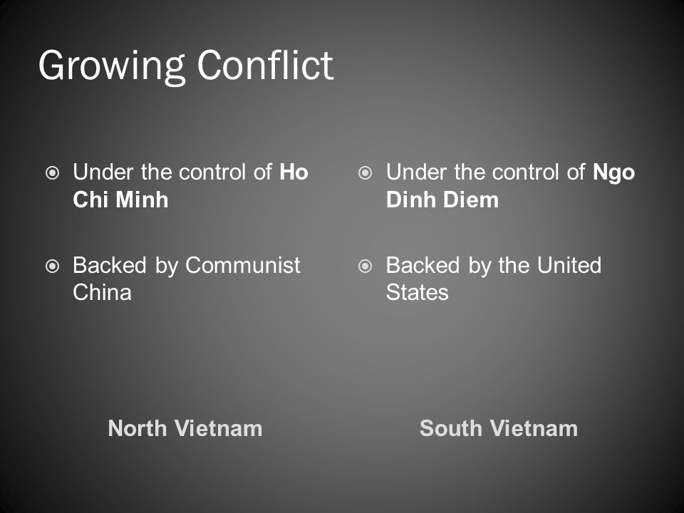 Growing Conflict Under the control of Ho Chi Minh
