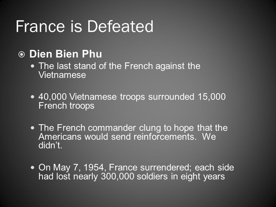 France is Defeated Dien Bien Phu
