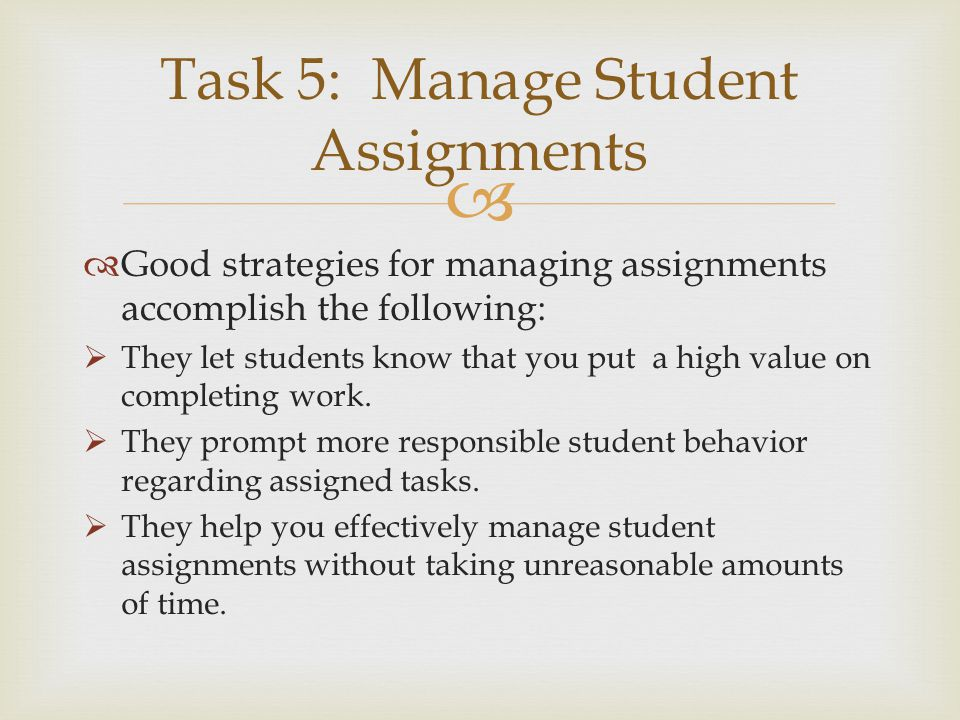 Task 5: Manage Student Assignments