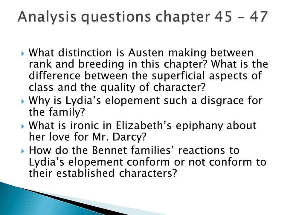 Analysis questions chapter 45 – 47