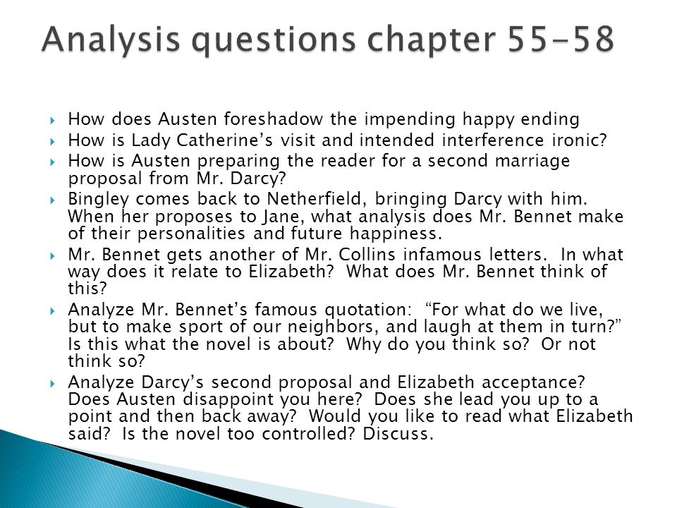 Analysis questions chapter 55-58