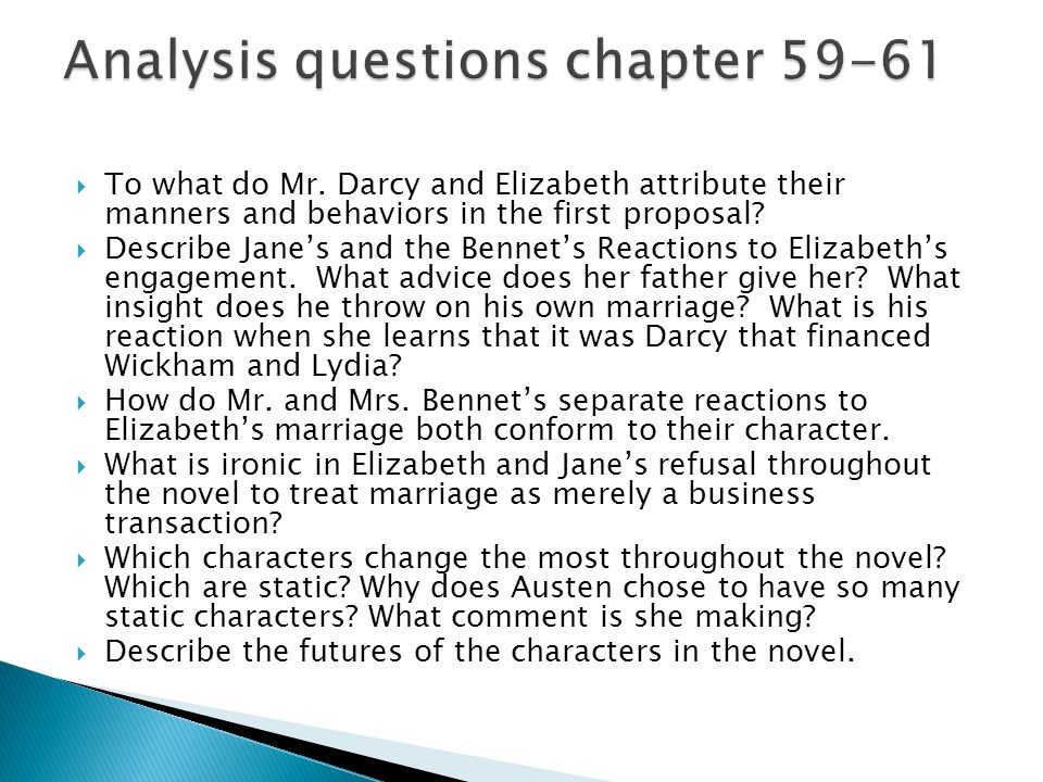 Analysis questions chapter 59-61