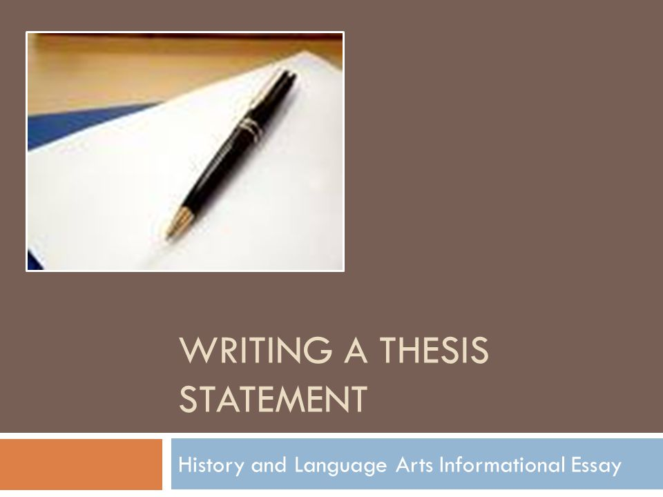 how to make a thesis statement for an essay A thesis statement is the single, specific claim that your essay supports a strong thesis answers the question you want to raise it does so by presenting a topic.