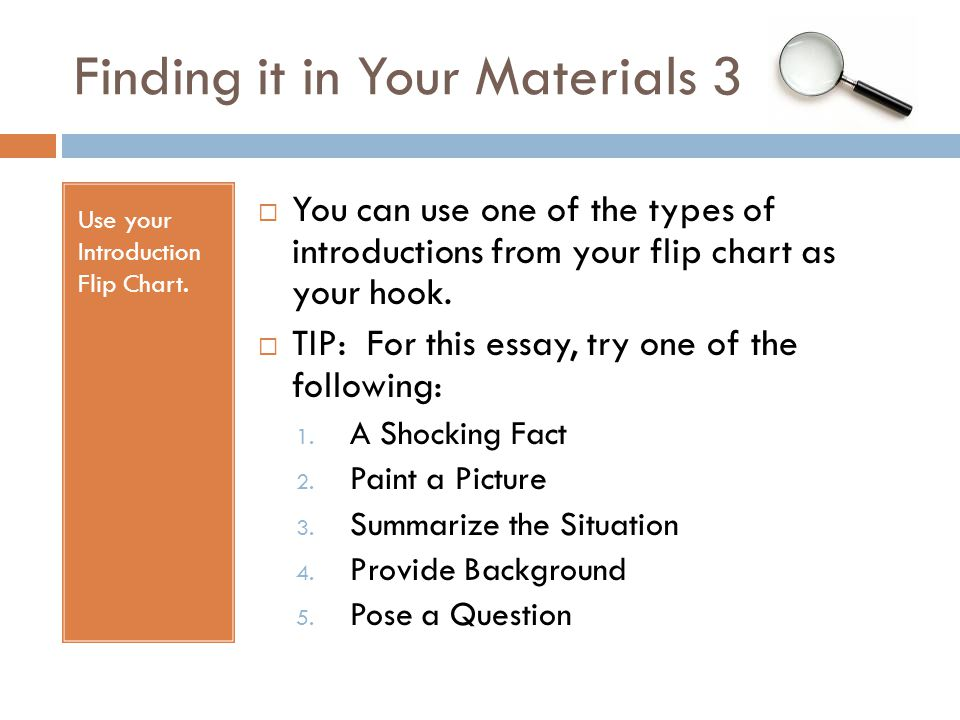 Finding it in Your Materials 3