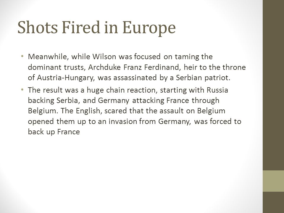 Shots Fired in Europe