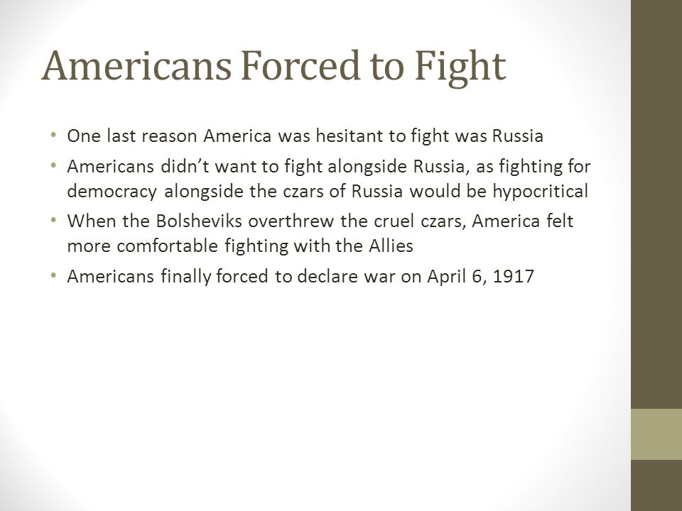 Americans Forced to Fight