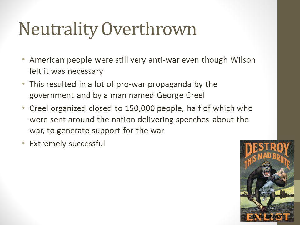 Neutrality Overthrown