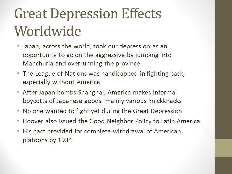 Great Depression Effects Worldwide