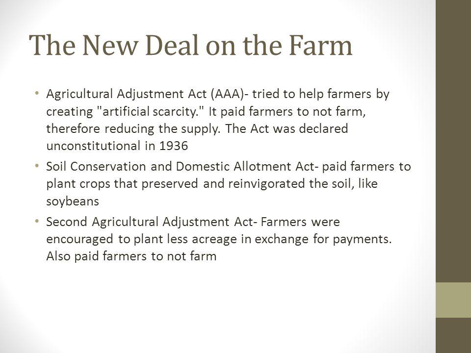 The New Deal on the Farm