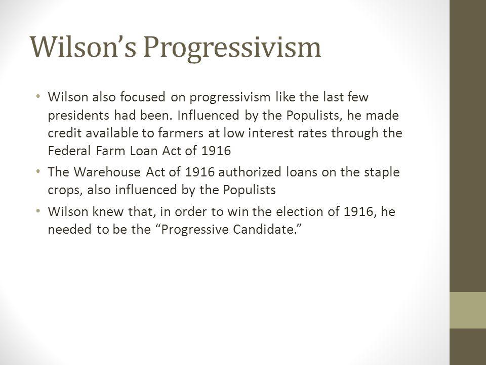 Wilson's Progressivism