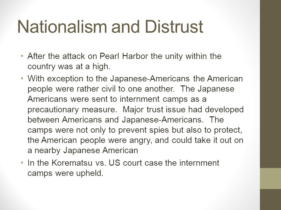 Nationalism and Distrust