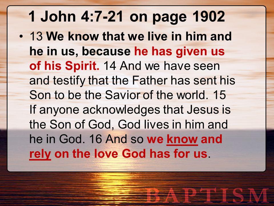 1 John 4:7-21 on page 1902