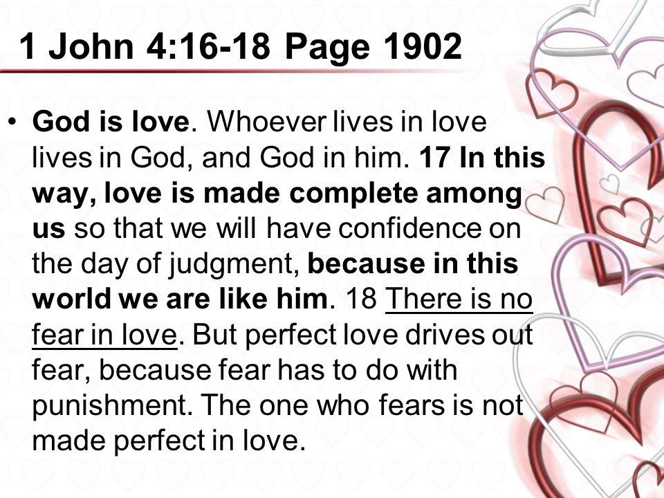 1 John 4:16-18 Page 1902