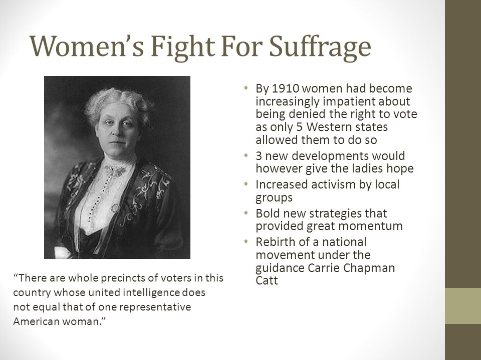 Women's Fight For Suffrage